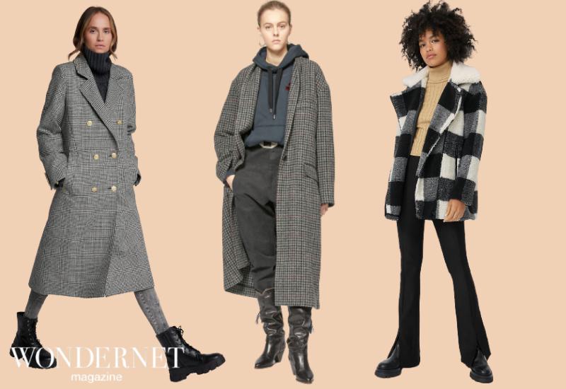 Il cappotto a quadri, trend glamour Inverno 2021